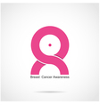 Breast cancer awareness logo design vector image vector image