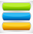 bright banner bar button backgrounds vector image