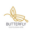 butterfly jewelry logo design template linear vector image