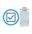 Checkbox Rounded Icon with 1000 Bonus Icons vector image vector image
