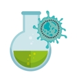 chemistry bottle with liquid vector image vector image