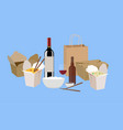 chinese food take away vector image vector image