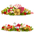 christmas concept with gifts vector image vector image