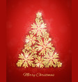 christmas gold glittering snowflakes background vector image