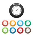 clock minimal icons set color vector image