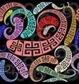 creative greek key meander seamless pattern vector image