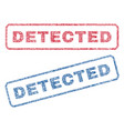 detected textile stamps vector image vector image
