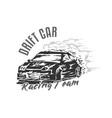 drift car racing vector image vector image