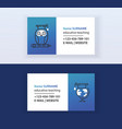 educative teaching set of business cards online vector image