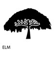 elm icon simple style vector image vector image