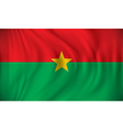 Flag of Burkina Faso vector image vector image