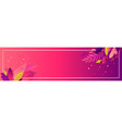 floral horizontal banner cut paper with vector image