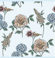 Floral seamless pattern trendy hand drawn