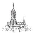 frankfurt am main germany german landmark travel vector image vector image