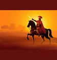 gaius julius caesar on horseback vector image vector image