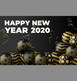 golden balloons and golden particles on black vector image