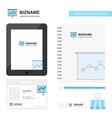 graph chart business logo tab app diary pvc vector image
