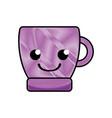 grated smile coffee cup kawaii cartoon vector image vector image