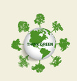 Green Eco Earth Green earth with trees vector image