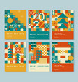 happy 2022 new year abstract geometric card design vector image vector image