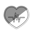 Heartbeat medical healthcare vector image