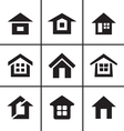 Home real estate icons set vector image vector image