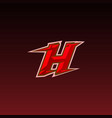 initial letter h with icon for game logo concept vector image vector image
