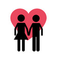 isolated couple design vector image vector image