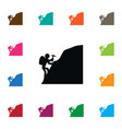 isolated piolet icon mountaineer element vector image