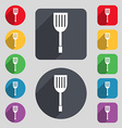 Kitchen appliances icon sign A set of 12 colored vector image vector image