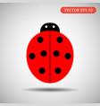 ladybird icon eps 10 vector image vector image
