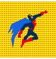 Landed Superman vector image