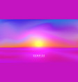 landscape sundown or sunrise vector image