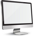 lcd tv monitor vector image