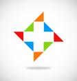 medic cross color logo vector image