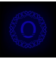 Monogram O vector image