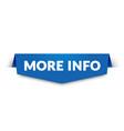 more info label modern web banner design vector image vector image
