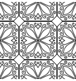 Moroccan floral monochrome seamless ornament vector image