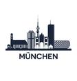 munich skyline emblem vector image vector image