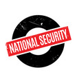 national security rubber stamp vector image vector image