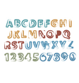 painted alphabet and digits vector image vector image