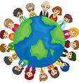 People and Earth vector image