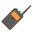 portable radio icon flat style vector image