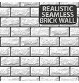 realistic seamless texture white brick wall vector image