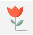Retro Red Flower Tulip vector image
