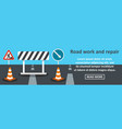 road work and repair banner horizontal concept vector image vector image