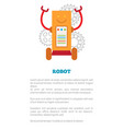 robot poster with text sample vector image vector image