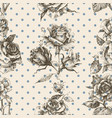 rose vintage seamless pattern vector image vector image