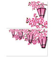sakura two pictures a branch of a cherry tree vector image vector image
