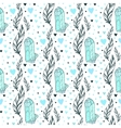 seamless crystal gems pattern with feathers vector image vector image